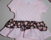 Baby Onsie Ruffe Dress - Size 6 months