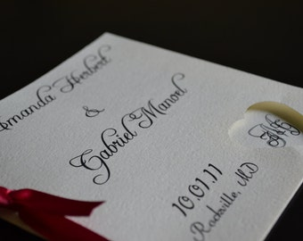Simple Square Wedding Program
