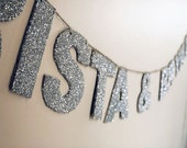 Glitter Name Wedding Garland (Made to Order)