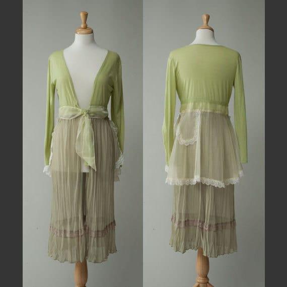 Women's repurposed vintage/retro/hippie dress skirt Small