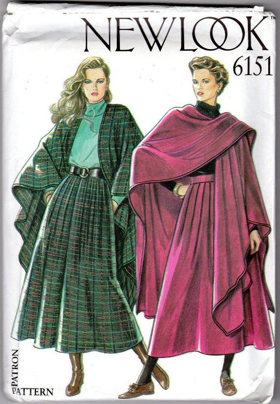 Womens Cape & Skirt Pattern - Size 8, 10, 12, 14, 16, 18 -  New Look 6151