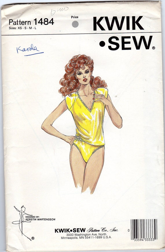 Misses' Camisole & Panties Pattern - Size X-Small, Small, Medium, Large - Kwik Sew 1484