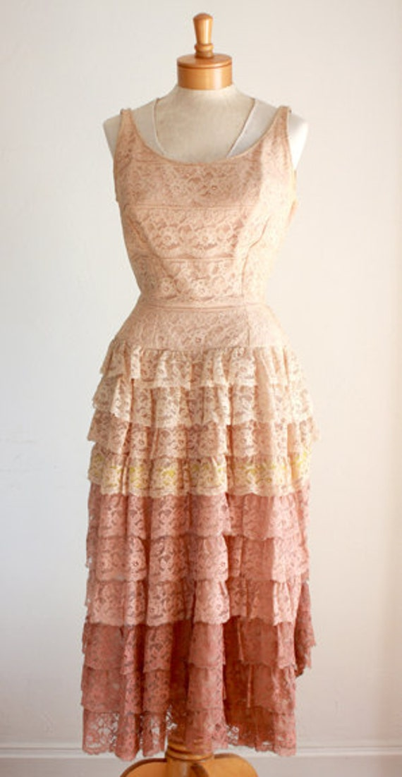 RESERVED**1940s Party Dress In Shades of Dusty Rose-Small-Medium**RESERVED