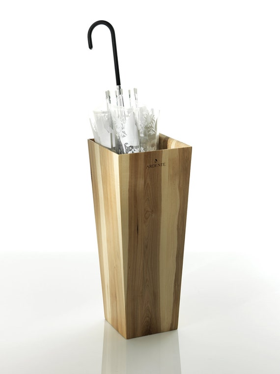 Umbrella stand in spalted wood by ardente porte parapluie en