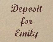 Deposit Listing for Emily