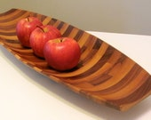 Authentic Mid Century Modern Design Handcrafted Wooden Fruit Boat -One of a Kind