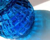 Mid Century Liquor Decanter in Cobalt Blue Glass