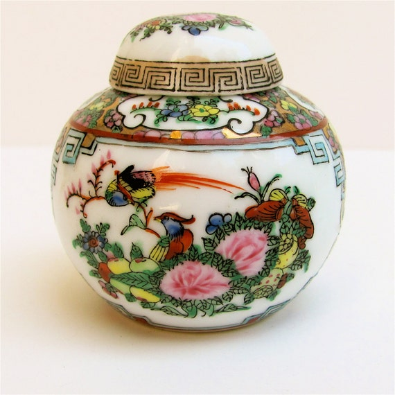 Rare early 1800's Antique Chinese Miniature Ginger Jar