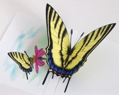 Butterfly Pop up Card Tiger Swallowtail Butterfly Any occasion card