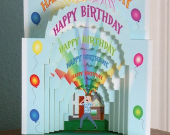3D Popup Birthday card  Shout Out with balloons