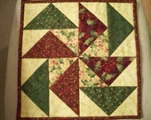 Christmas Patchwork Quilted Candle Mat, Table Trivet