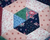 Scrappy Vintage Patchwork Quilted Candle Mat, Table Trivet