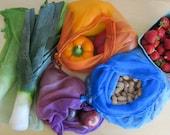 Set of Nylon Mesh Produce Bag - 1 Large and 1 Small
