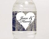 "DIY Printable Winter Wedding Custom Personalized Water bottle/mason jar label 8.5""x2"""