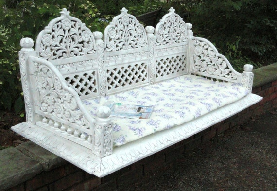 Items similar to vintage ornate carved shabby chic dog bed for Shabby chic dog