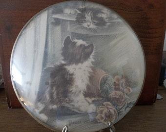 Vintage Kitten Plaque