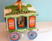 Steiff Golden Age of Circus Wagon with Giraffe Perfect Condition