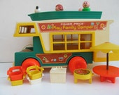 REDUCED-Vintage Fisher Price Play Family Camper