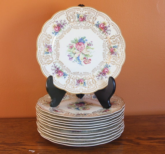 Royal bayreuth bavaria china plates set of 12 by mumscottage - Butlers bayreuth ...
