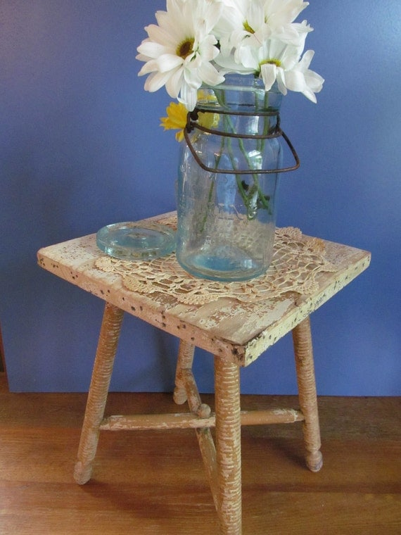 REDUCED-Shabby Chic  Plant Stand