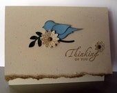Handmade, 3-Dimensional, Stamped, Thinking of You Card