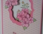 Handmade, 3-Dimensional, Stamped, Happy Birthday Card