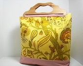 Inventory Sale....Vintage Summer Tote - Yellow