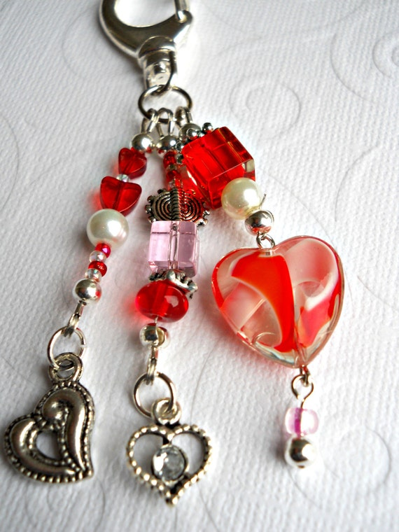 Red Hearts Decorative Clip
