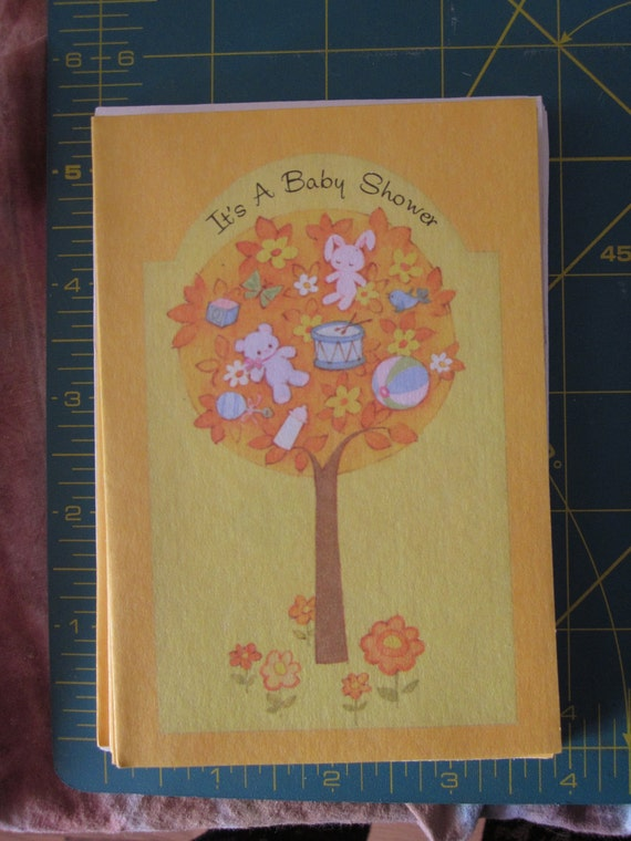 vintage baby shower invitations with envelopes 1960 39 s by oncea