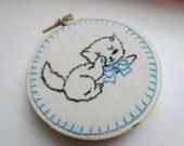 Hoop Art-Vintage Kitten