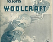 Patons Woolcraft - A Practical Guide to Knitting and Crochet. Vintage instruction booklet.