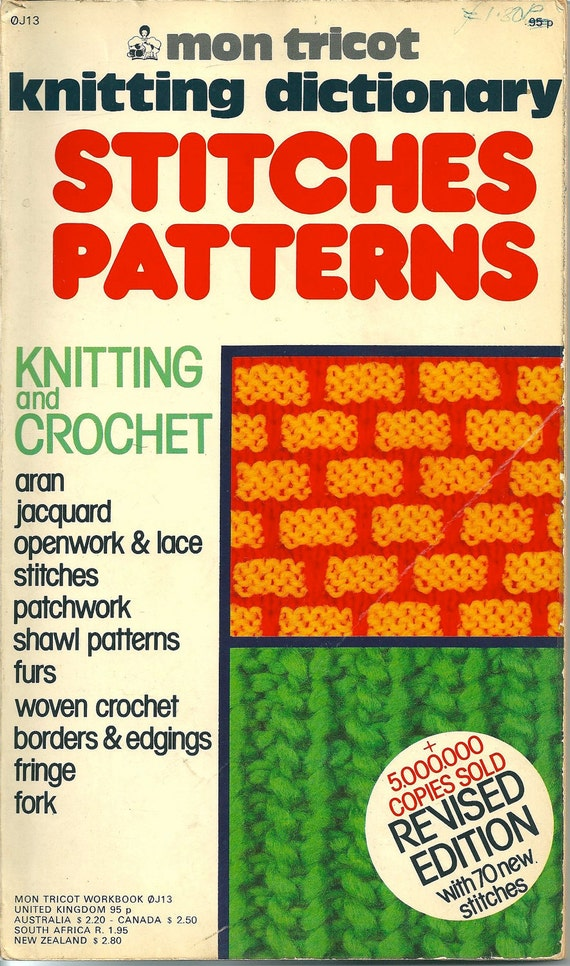 Mon Tricot Knitting Dictionary Stitches Patterns includes