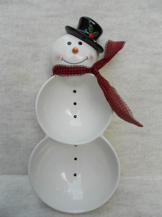 Snowman Serving Dish
