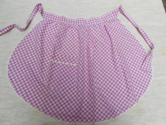 Vintage Apron, purple gingham. Chef, Cooking, Collectible. Country Kitchen, Handmade