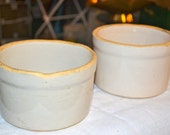 Pair of Antique Stoneware Crocks