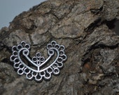 Tibetan Silver Earring Or Necklace Connector Findings