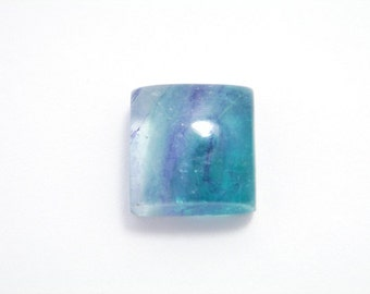 AAA banded MULTICOLOR FLUORITE Gemstone square Cabochon. High Quality.