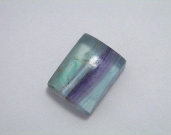 AAA FLUORITE banded MULTICOLOR Gemstone square Cabochon. High Quality.
