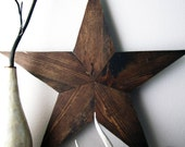 Jacobean Stained WOOD STAR