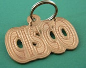 Custom Engraved Copper Large Pet Tag