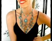Handmade Bib Turquoise Necklace