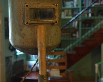 Vintage Industrial Welding Mask Lamp