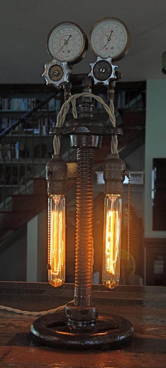 Vintage industrial steampunk lamp for Industrial punk design