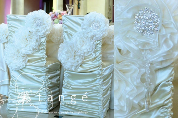 Custom Order Chair Covers Princess Style For The Bride And