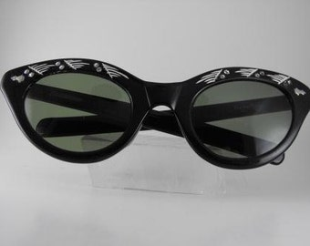 Vintage Sunglasses Frame Italy Cats Eyes Nina Hagen Collectible Glasses