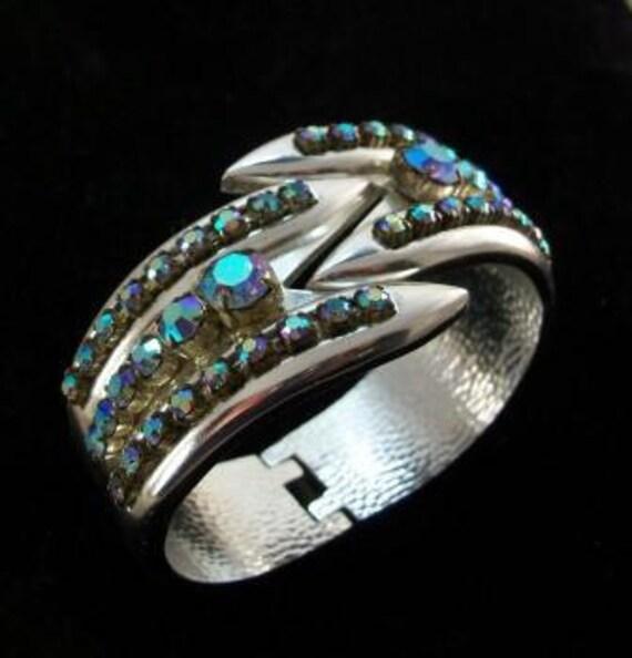 1960s Vintage Clamper Cuff Bracelet A/B Crystals 30.00 o.b.o.