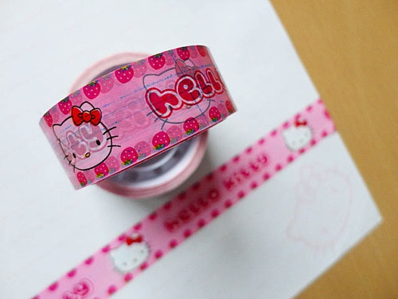 Hello Kitty deco tape, cute pink edition.