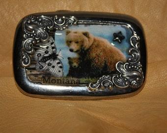 Belt buckle Mama Bear from Montana