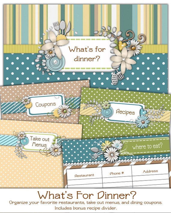 What's For Dinner Restaurant Organizer