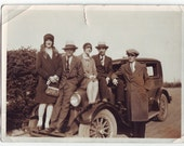 "Vintage Roaring 20s Photograph, 1920s ""Who's the Fifth Wheel"""